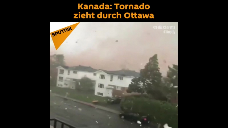 Kanada Tornado zieht durch Ottawa