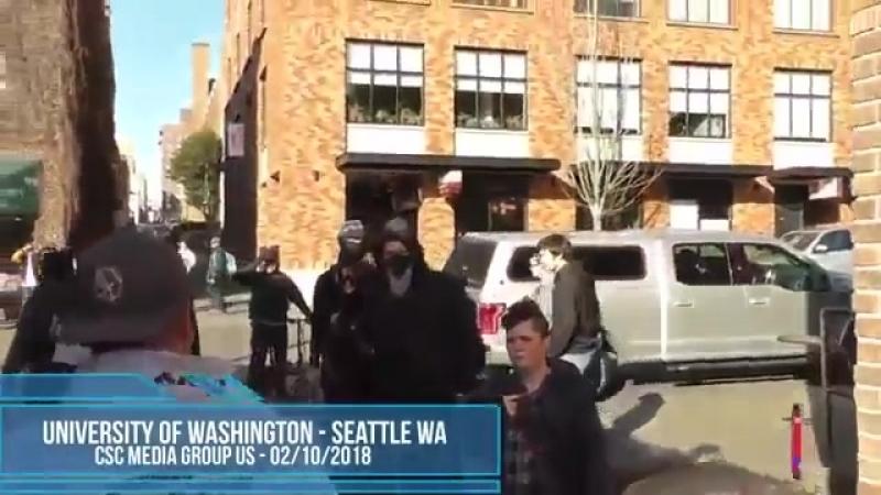USA Washington_ Die Lustige Antifa bezieht Prügel. Eine andere Sprache verstehen die Zecken anscheinend auch nicht.mp4
