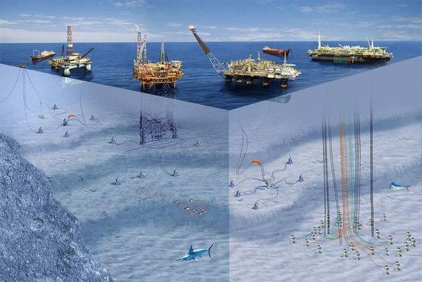 нефтяной платформы Баклан