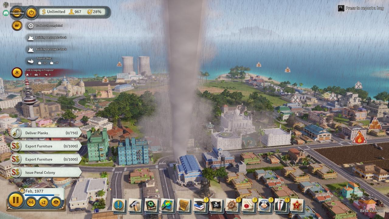 Ураган в Tropico 6