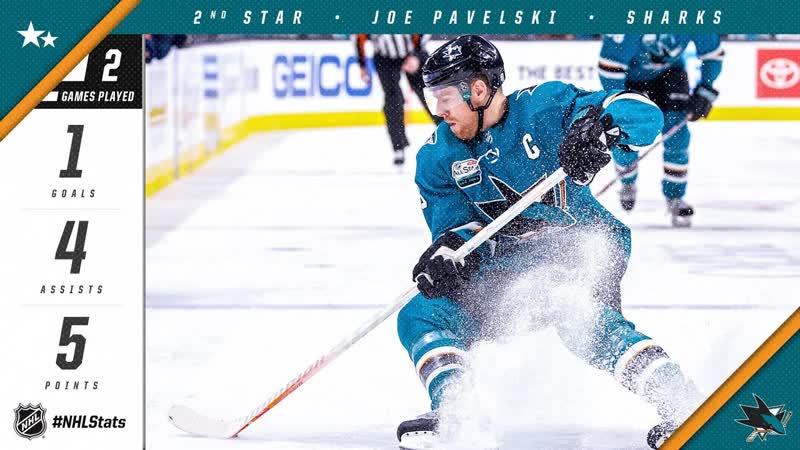 Joe Pavelski earns second star of the week