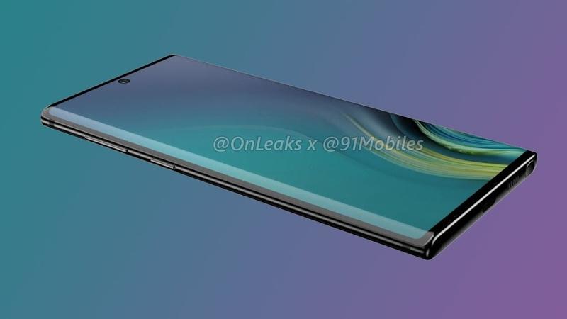 ✏ Рендер Samsung Galaxy Note 10 утечка дизайна от надежного источника