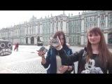 Девушки из Петербурга и Твери на Уроке жонглирования булыжниками