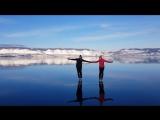 На коньках по прозрачному льду Байкала!