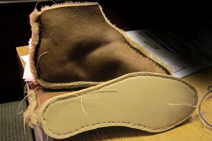 Как сделано теплая обувь 185
