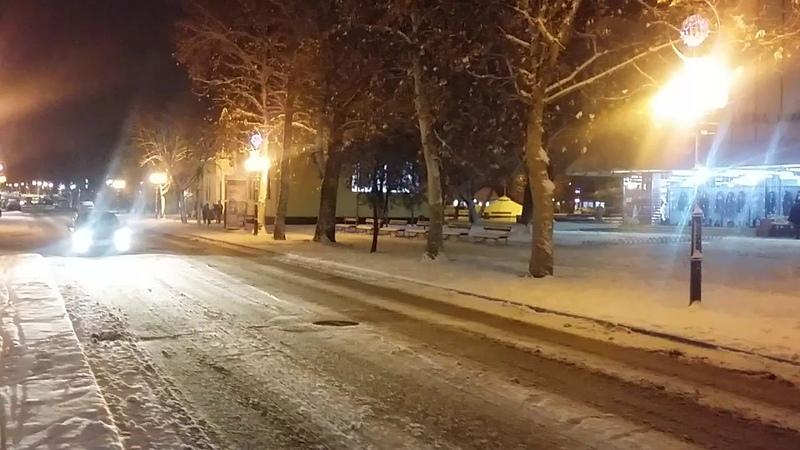 Bačka Topola. ..noću. .Tucindan..2 dana pred Božić 2019!!