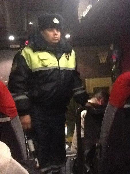 Предположительно полицейский, участвовавший в операции