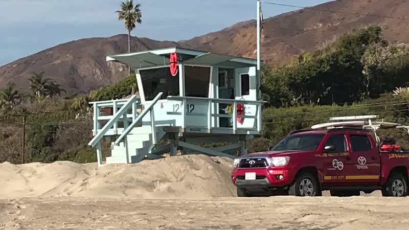 Тихий океан_ Malibu_California