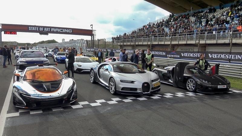 $50 MiLLiON HYPERCAR GATHERiNG Chiron, 2x LaFerrari, P1 GTR, CCXR Edition, Vanquish Zagato, Urus ....