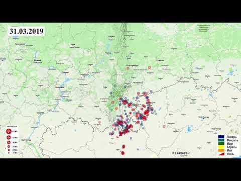 Сейсмическая активность в Уральской фасетке за первое полугодие 2019 г.