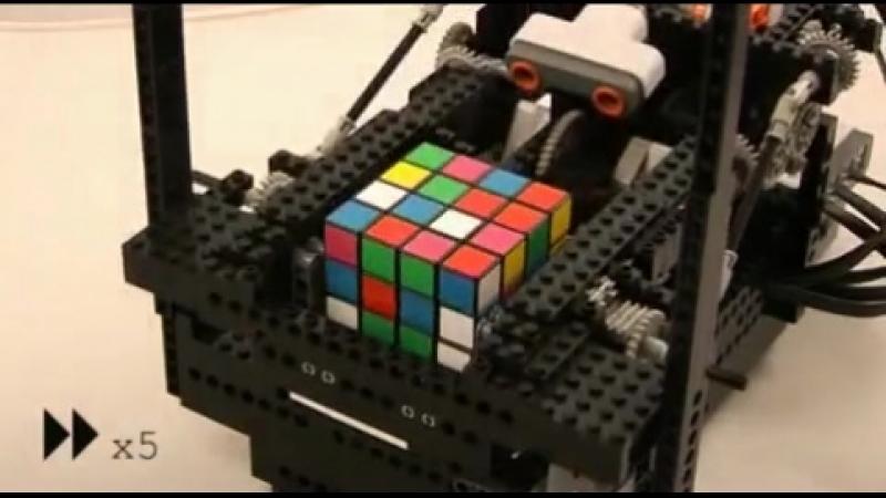 ARM Powered LEGO Nokia 4x4x4 Rubik 39 s Cube Solver
