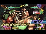 JoJo's Bizarre Adventure: All Star Battle - Joseph Counter-Taunts Baoh