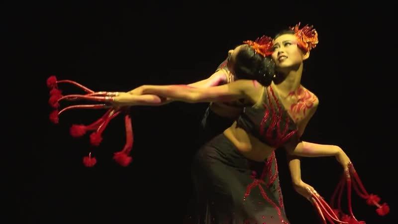 Новогоднее Настроение в Китайском Стиле Танец Лилий народности Дай Дайцы южный Китай Красный Паук