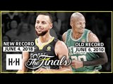 Stephen Curry NEW 2018 Finals Record vs Ray Allen Old 2010 Finals Record - Who's Better