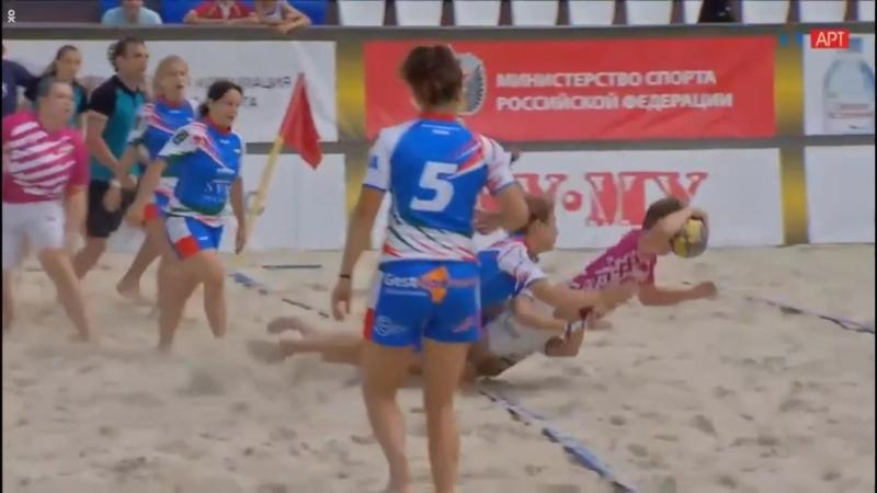 Чемпионат Европы по пляжному регби 2018 Италия - Латвия (жен.) полуфинал