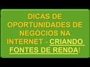 Dicas de Oportunidades de Negócios na Internet