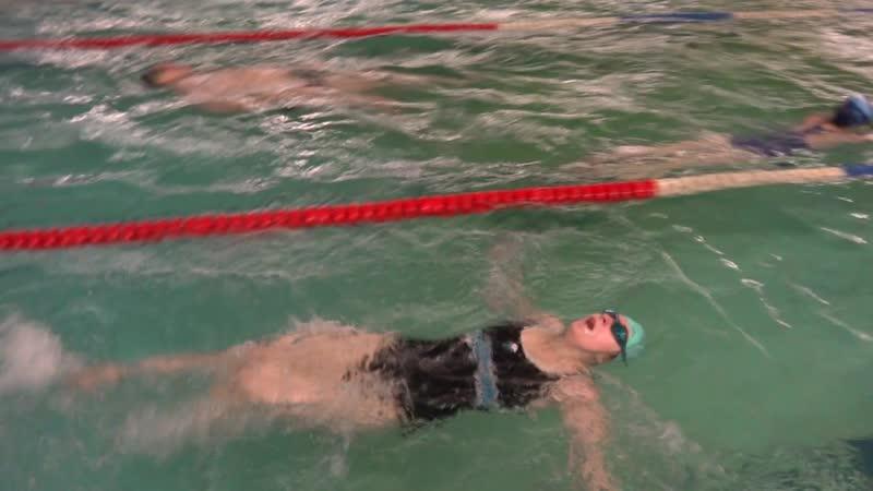 Кристина Никит., первые 50 м, 7 занятие