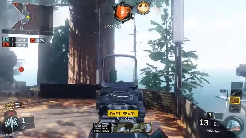 Just a 1V4 against Awareness users with my fave weapon. Black Ops 3