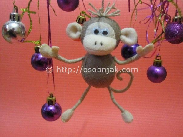 Елочная игрушка: обезьяна своими руками… (8 фото) - картинка