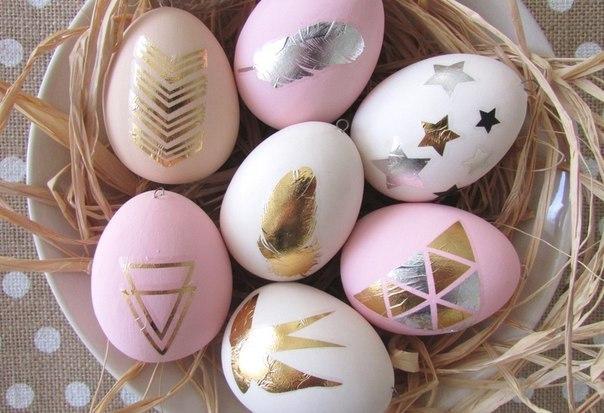 Идея для декора пасхальных яиц. Декор сусальным золотом…. (7 фото) - картинка