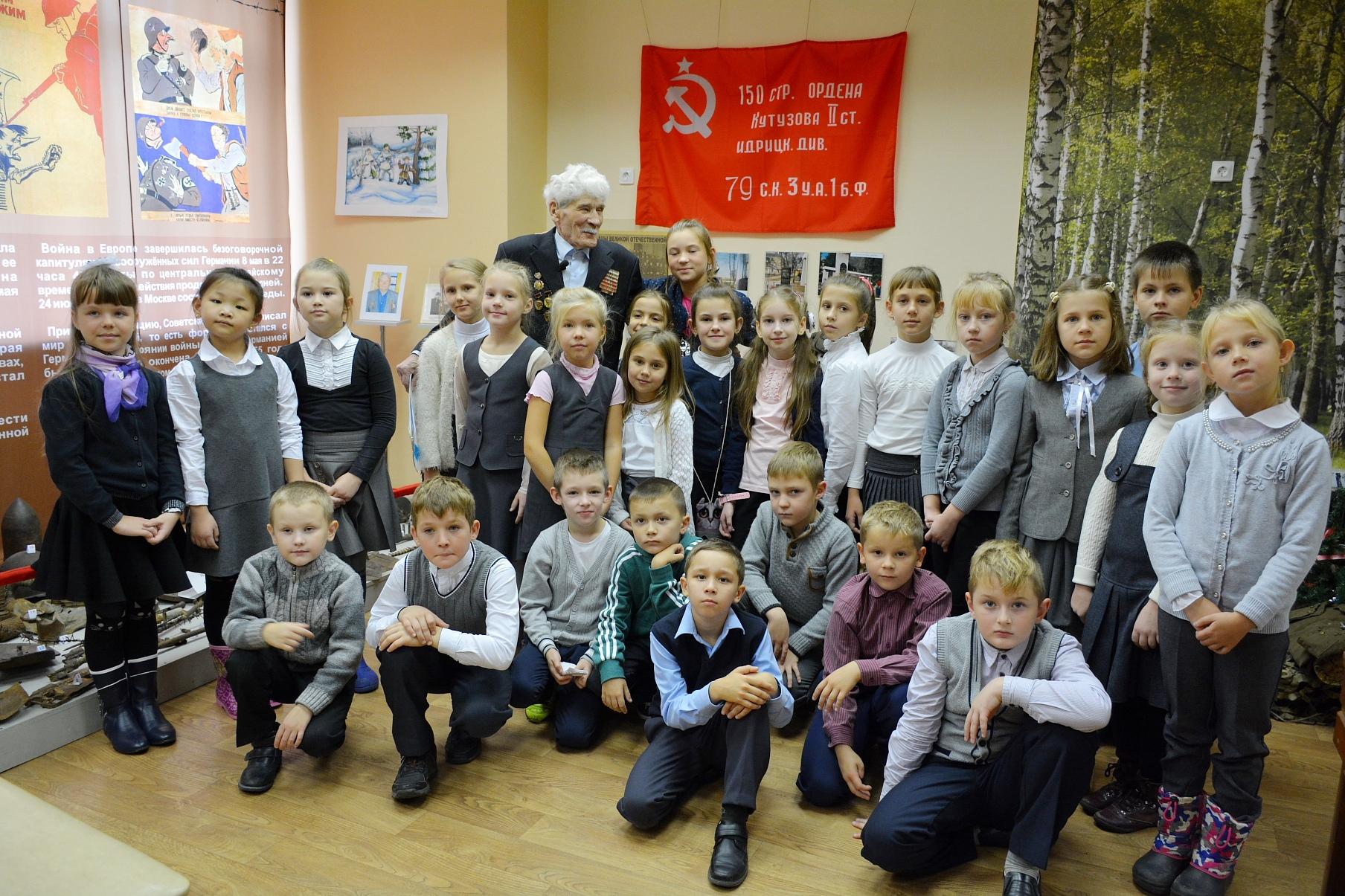 В музее г.Балабаново прошла встреча школьников с ветераном Великой Отечественной войны А.Д.Масаловым