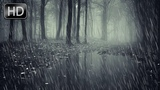 Gentle sounds of night rain without thunder, without music. Soothing nature sounds 3 hours of sleep