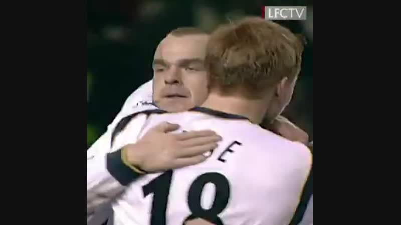 Stevies through ball. - Murphys deft lob. - - OnThisDay in 2002, a memorable late winner at Old Trafford.