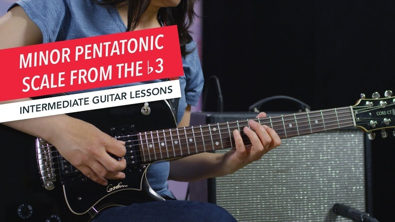 How to Play Guitar Minor Pentatonic Scale from the b3 Intermediate Guitar Lessons