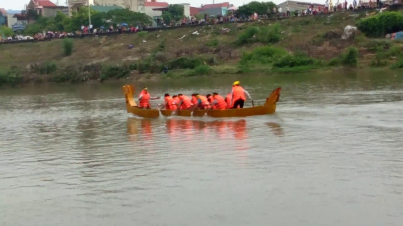 Giải đua thuyền rồng trành phố Bắc Giang