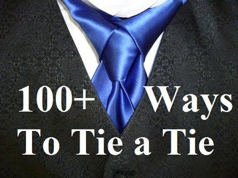 Animated How to Tie a Necktie Merovingian Knot for your Necktie aka Ediety Knot - How to Tie a Tie
