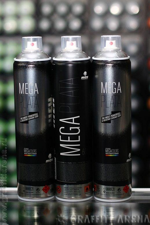 Новинка в  GRAFFITI SHOP ARENA Краска для граффити MTN MEGA PLATA (SILVER CHROME) 600 мл  Montana Colors S.L. Испания http://www.graffitiarena.ru/catalog/product/344