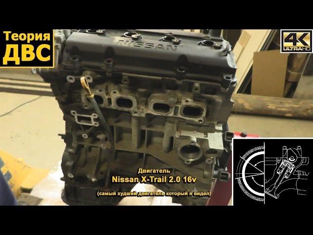 Теория ДВС Двигатель с Nissan X Trail 2 0 16v самый худший двигатель который я видел