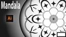 Illustrator mandala tutorial how to create mandala art symmetrical drawing apply effect to layer