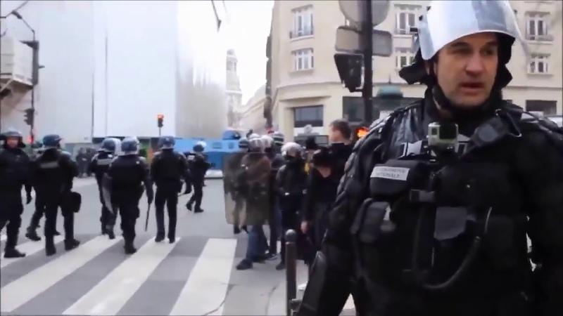 Un gendarme remet les Gilets Jaunes à leur place Vous assumez ce que vous a créé