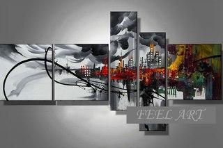 абстрактные картины для интерьера своими руками