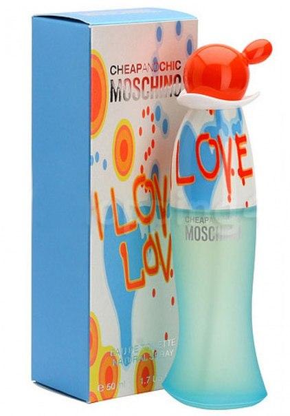 Благодарности за дар. Suggested as a gift Дуи Moschino I Love Love.