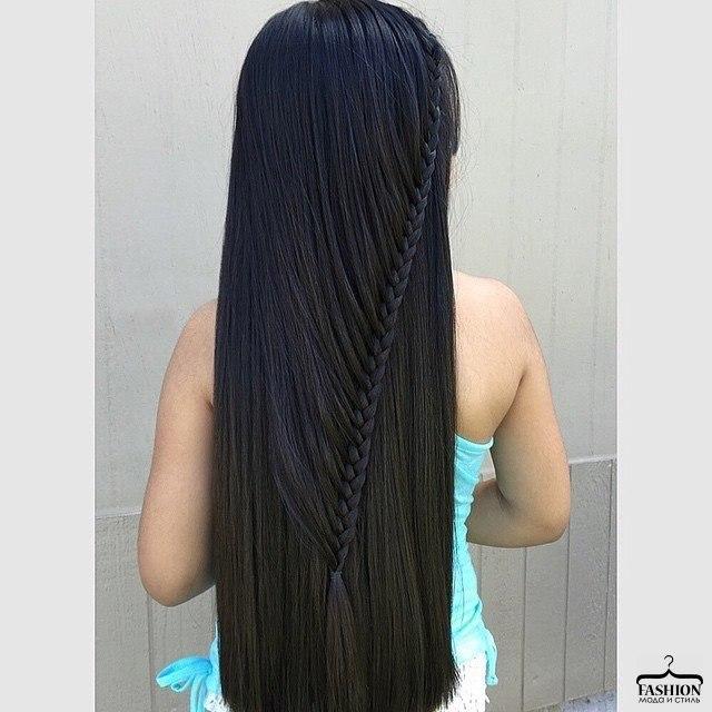 Красивая причёска на длинные прямые волосы