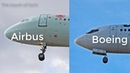How can you differentiate between boeing and airbus?