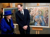 Queen meets double-amputee veteran turned artist