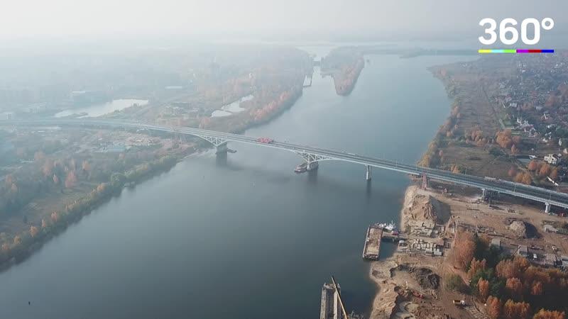 Испытания моста в Дубне