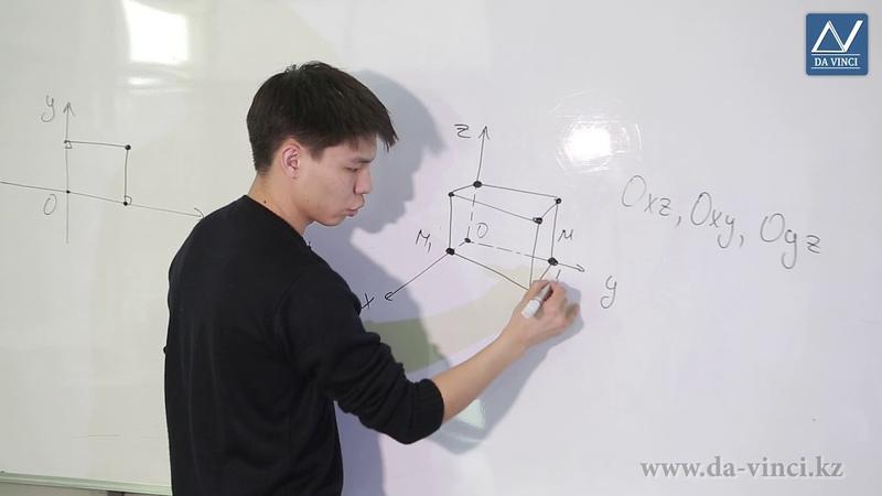 11 класс, 1 урок, Прямоугольная система координат в пространстве