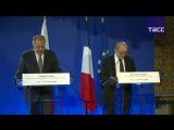 Пресс-конференция Сергея Лаврова и Жан-Ива Ле Дриана