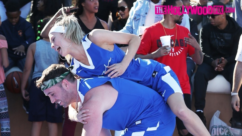 Josie Canseco Plays In The Chacha The Wave Vs. Jamie Foxx Celebrity Basketball Game 2.17.18