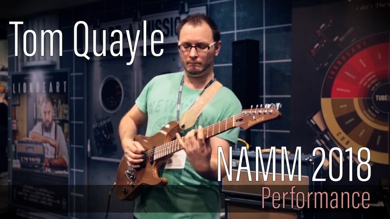 Tom Quayle at the Laney Booth - NAMM 2018