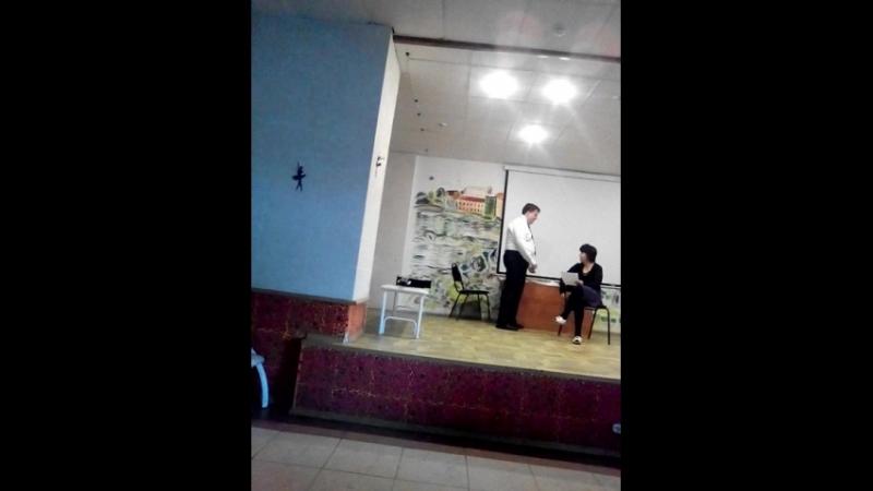 Андрей Смолин и Татьяна Шульгина.Сценка из кинофильма Служебный Роман часть 3