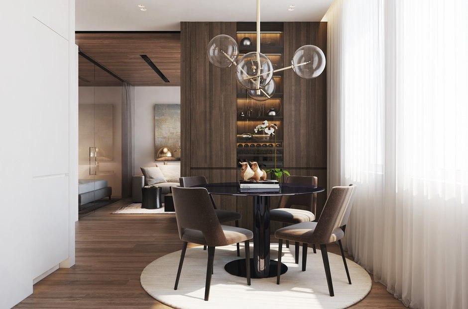 Проект квартиры 46-49 м (в описании на сайте дизайнера и на плане разные данные).