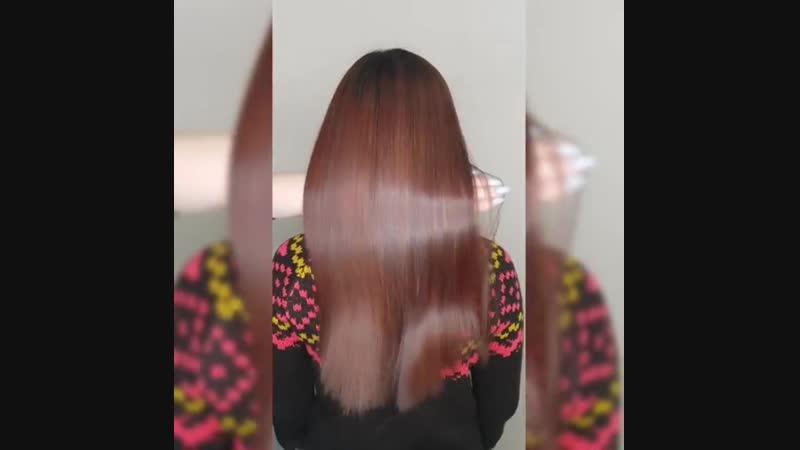 Они прекрасны 😻 — не могу не налюбоваться💕 Блеск потрясающий, волосы ожили😌 Обязательно смотрите в карусели до, правда крутое пр