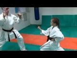 DrobyshevskyKarateSystem:BASSAI DAI-Bunkai Kumite-4-Gyaku Soto Uke-Knife Defense