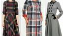 Winter tunic design check dresses design office wear tunics for winter