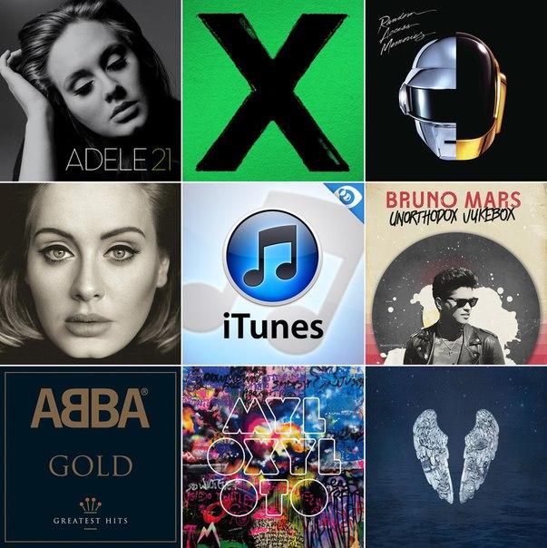 Согласно подсчётам мирового чарта «iTunes», только 8 альбомов смогли перейти порог в 10 миллионов очков в этом десятилетии: